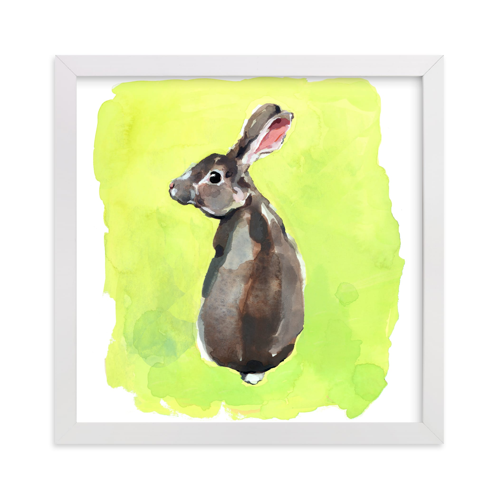 """""""Wild Rabbit"""" - Limited Edition Art Print by Betty Hatchett in beautiful frame options and a variety of sizes."""