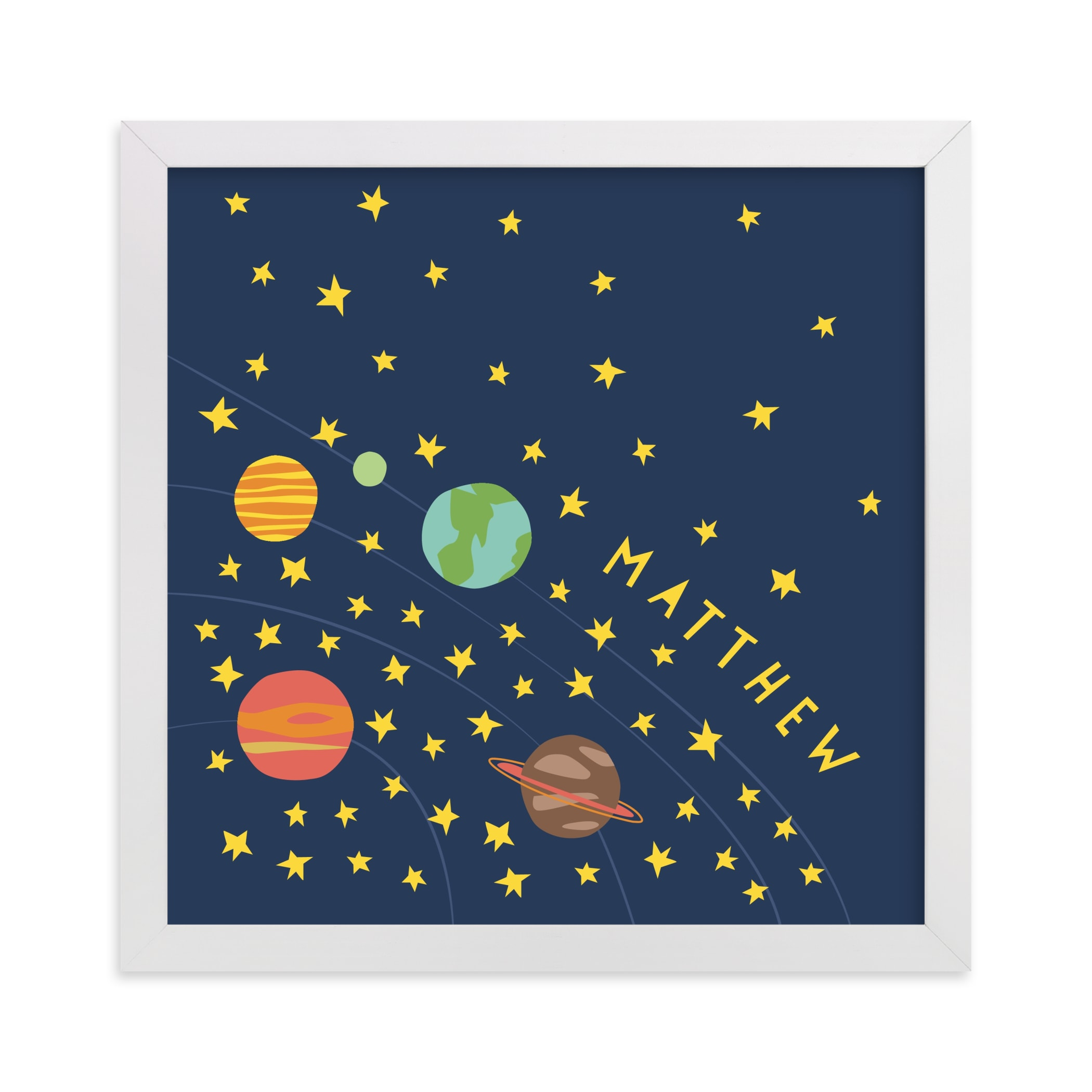 """""""space case"""" - Children's Custom Art Print by Betsy Siber in beautiful frame options and a variety of sizes."""