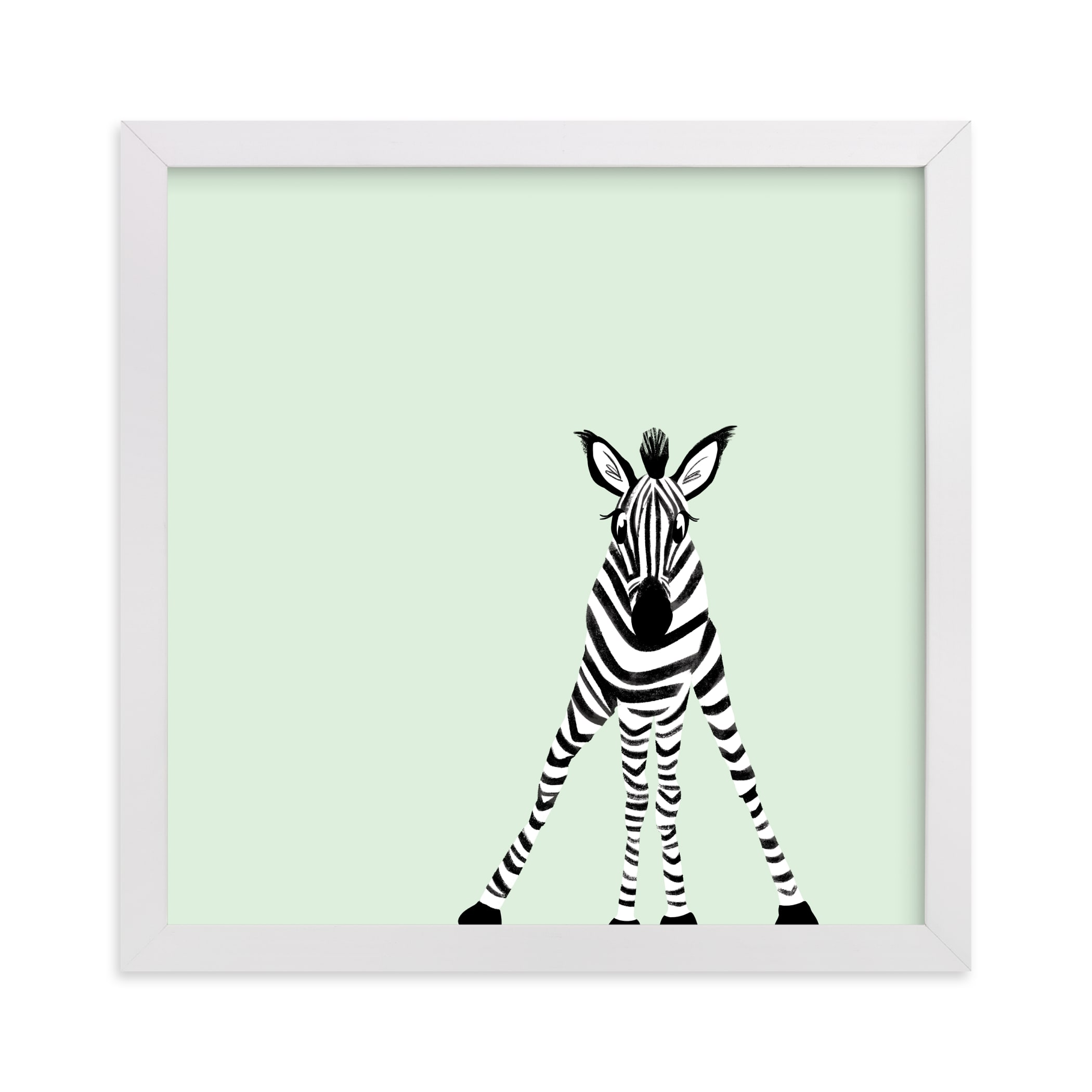 """""""Little Baby Zebra"""" - Limited Edition Art Print by Laura Mitchell in beautiful frame options and a variety of sizes."""
