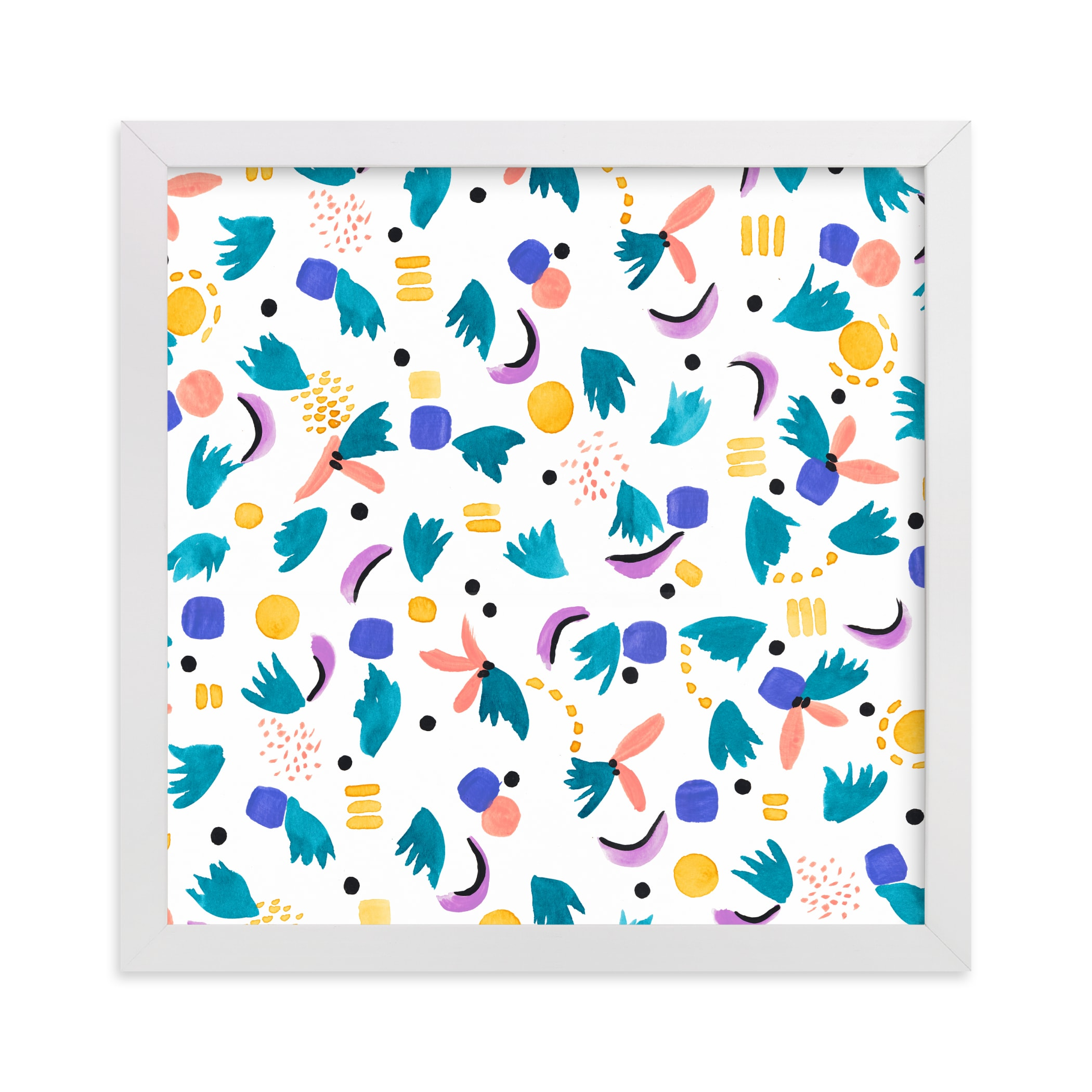 """""""Geometric plants"""" - Limited Edition Art Print by FERNANDA MARTINEZ in beautiful frame options and a variety of sizes."""