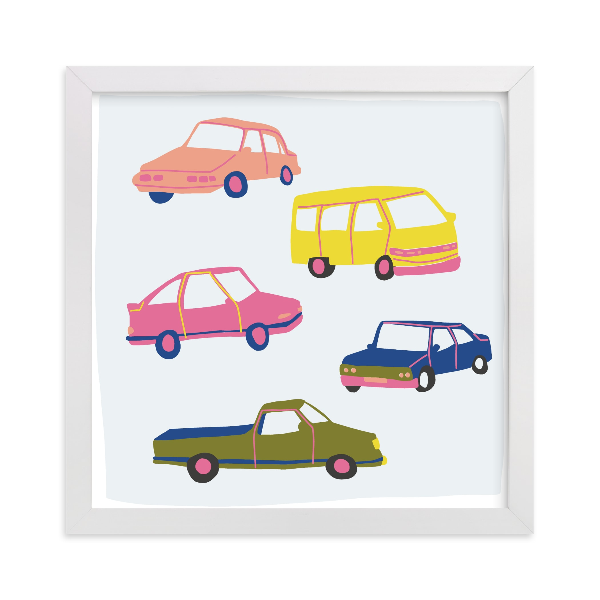 """""""Vroom Vroom"""" - Limited Edition Art Print by Alicia Schultz in beautiful frame options and a variety of sizes."""