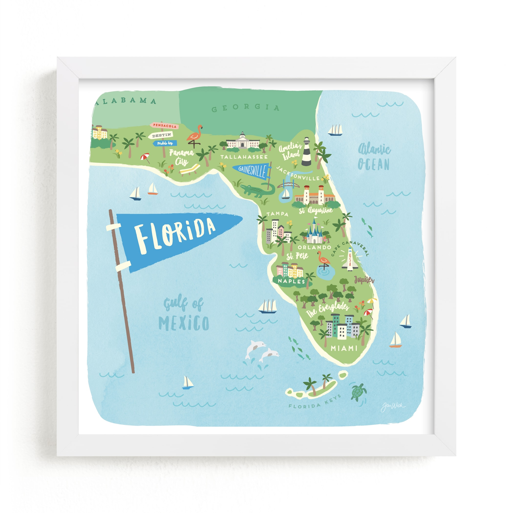 """""""Sunny Florida"""" - Limited Edition Art Print by Jennifer Wick in beautiful frame options and a variety of sizes."""