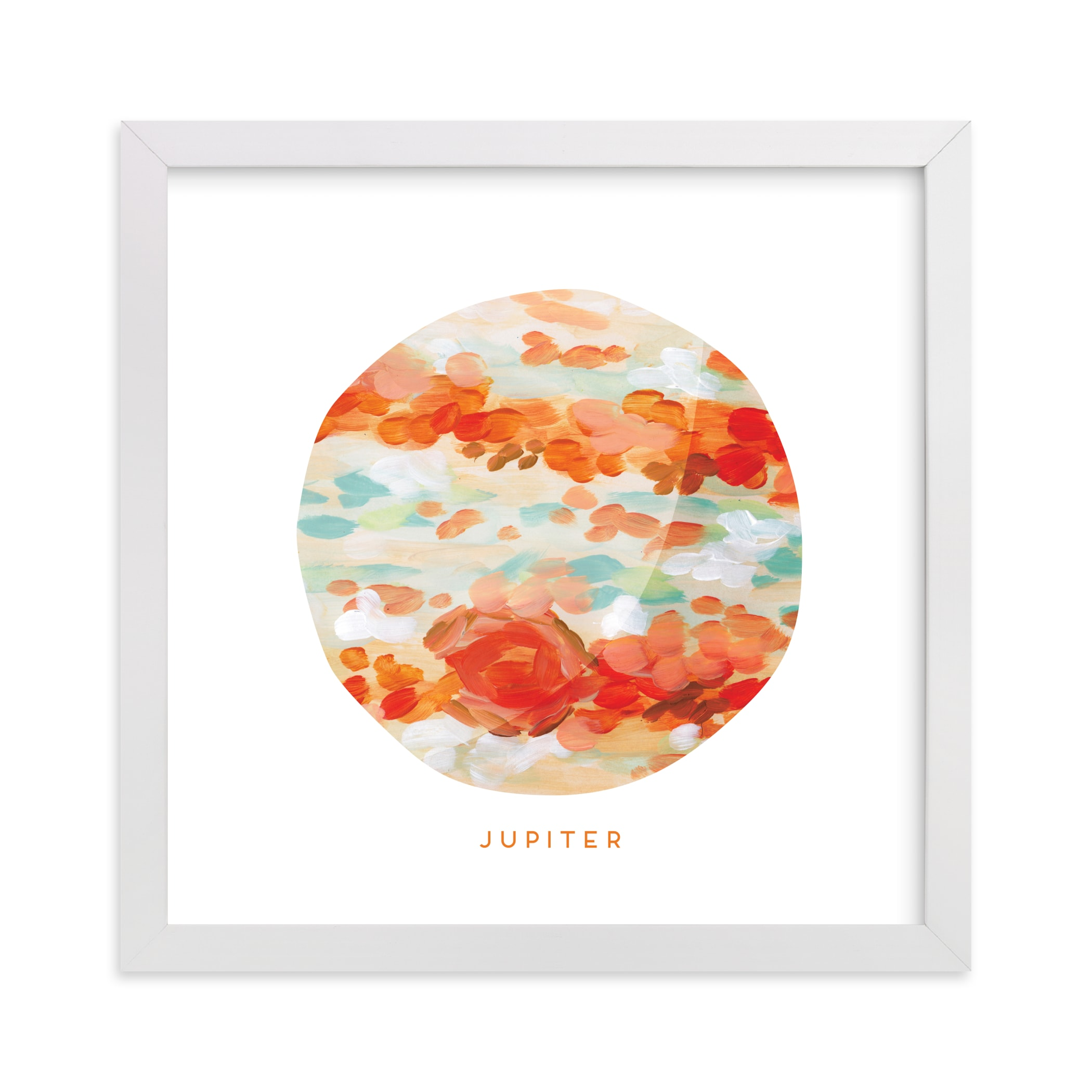 """""""Painted Jupiter"""" - Art Print by Holly Whitcomb in beautiful frame options and a variety of sizes."""