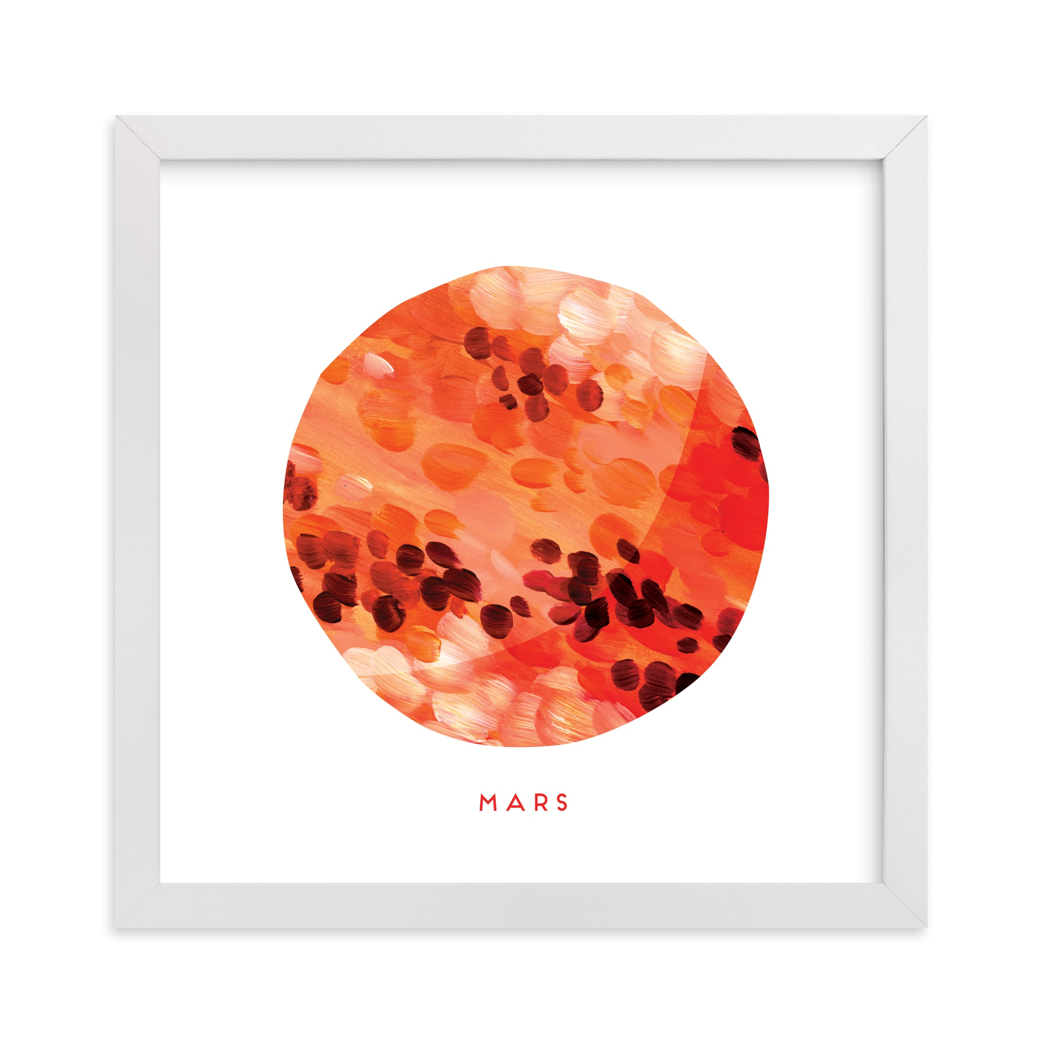 """Painted Mars"" - Art Print by Holly Whitcomb in beautiful frame options and a variety of sizes."