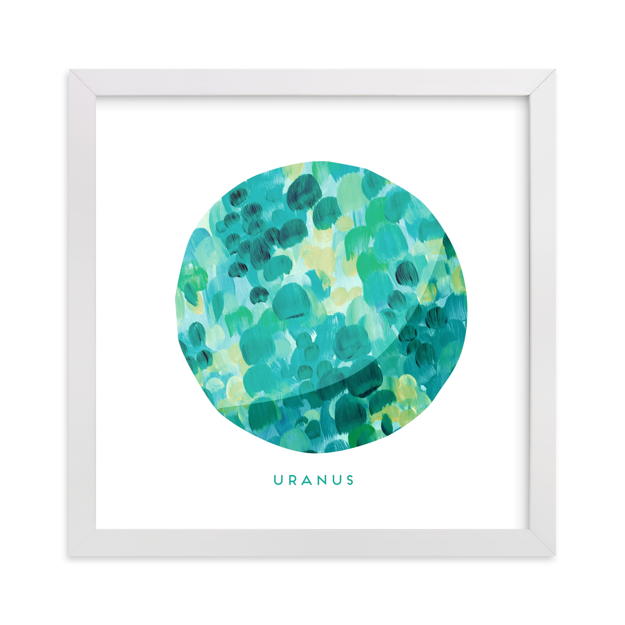 """""""Painted Uranus"""" - Art Print by Holly Whitcomb in beautiful frame options and a variety of sizes."""