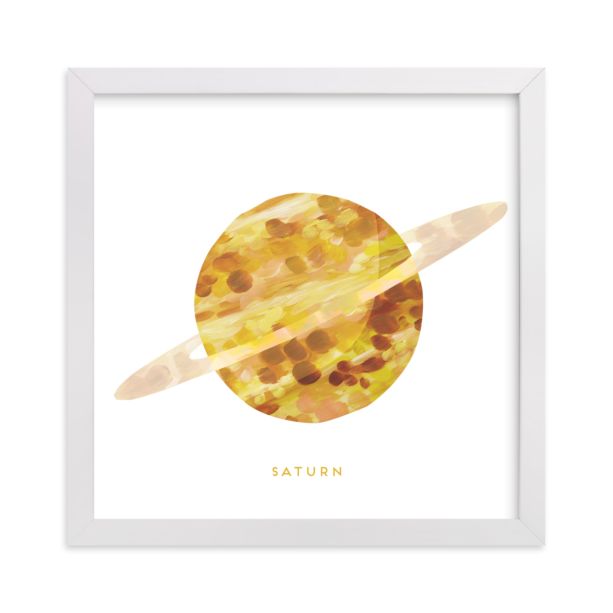 """""""Painted Saturn"""" - Art Print by Holly Whitcomb in beautiful frame options and a variety of sizes."""