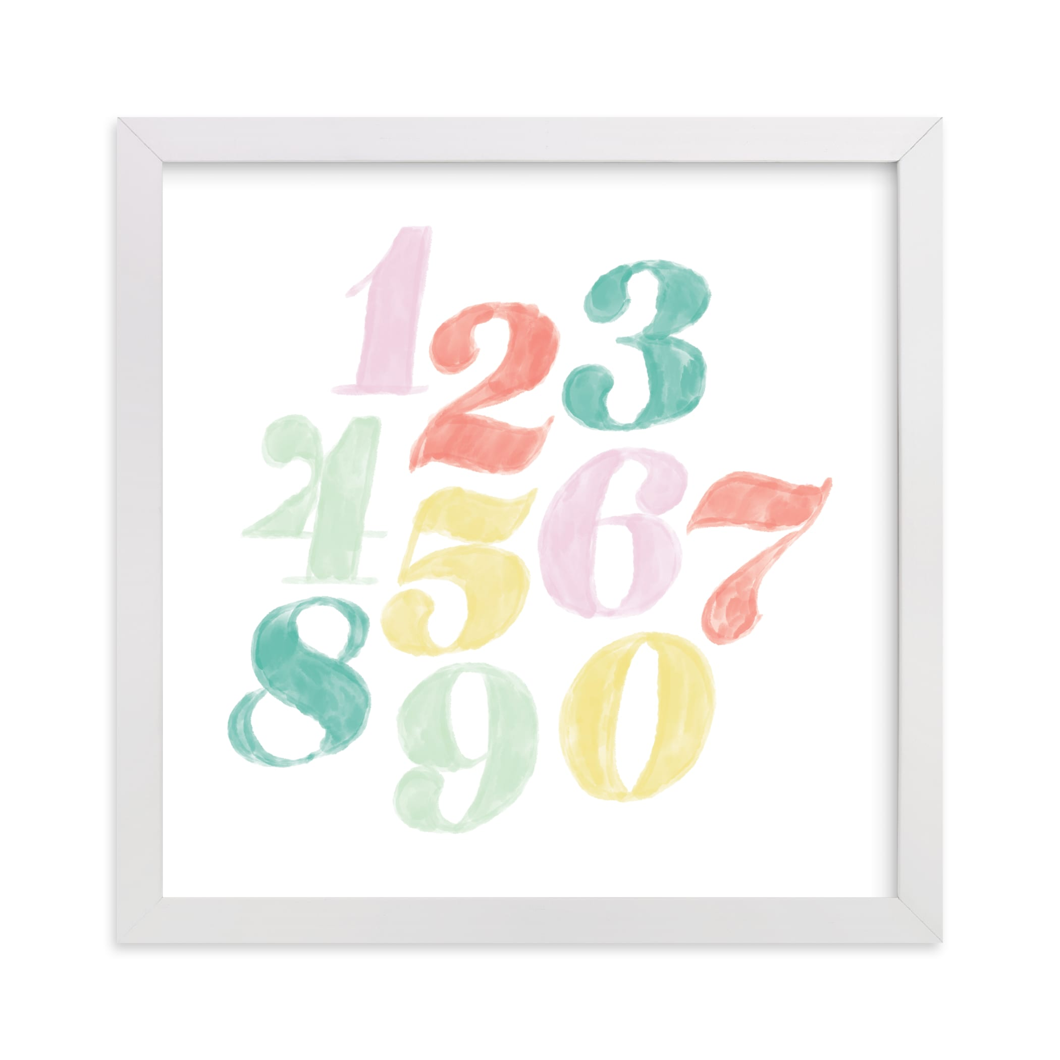 """Numerals"" - Limited Edition Art Print by Carolyn Kach in beautiful frame options and a variety of sizes."