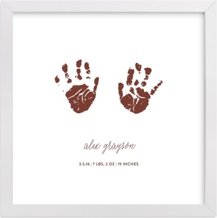 This is a red photos to art  by Minted called Custom Handprints as Art.