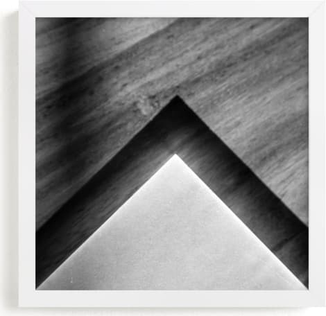 This is a black and white art by Van Tsao called Shadow Geometry #2.